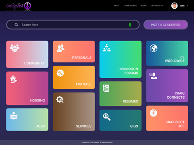 Craigslist Homepage | Concept