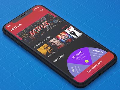Netflix Concept design ux ui iphonex plans hotstar videos black theme netflix