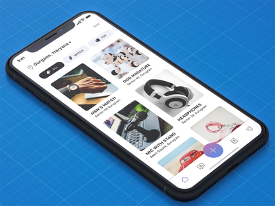 Contribution App iphonex mockup white blue redesigning olx purchase sell e-commerce social ios iphonex design ux ui