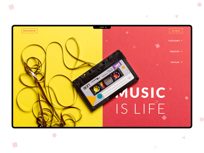 Music is life | Web Concept
