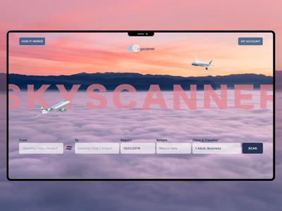 Skyscanner Landing Concept