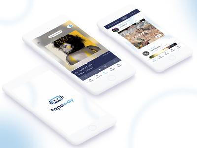 Tapeway crowdfunding player stream music app