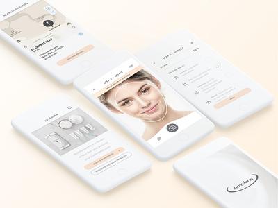 Juvederm laboratory pharma icons shades smooth esthetic branding app