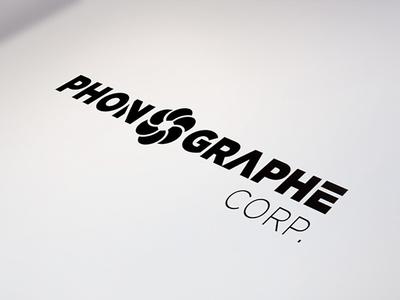 Phonographe Corp. logotype illustrator branding edges cut logotype