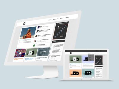 Phonographe Corp. Website playlist cover music blog editorial ui