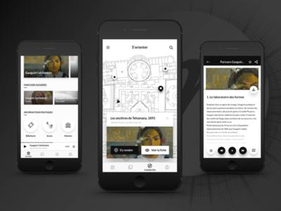 Grand Palais app ui ux guide audio map exhibit culture