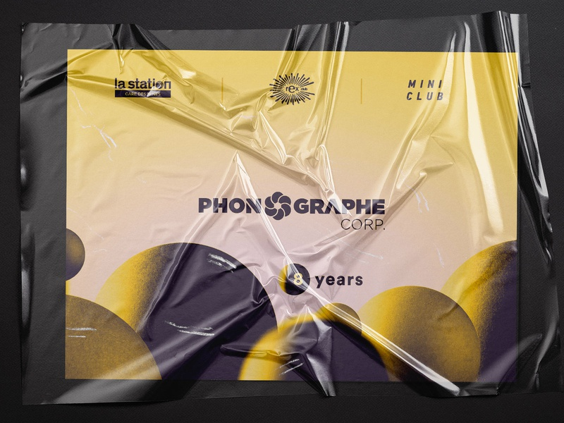 8Y paper design editorial party branding electronic 3d art music event print