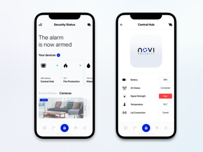 Mobile Application Design for Security Alarm System chart analytics website design monthly graph web informational graphic interface financial startup dashboard interaction iphone x business product mobile clean ui ux app design security system alarm