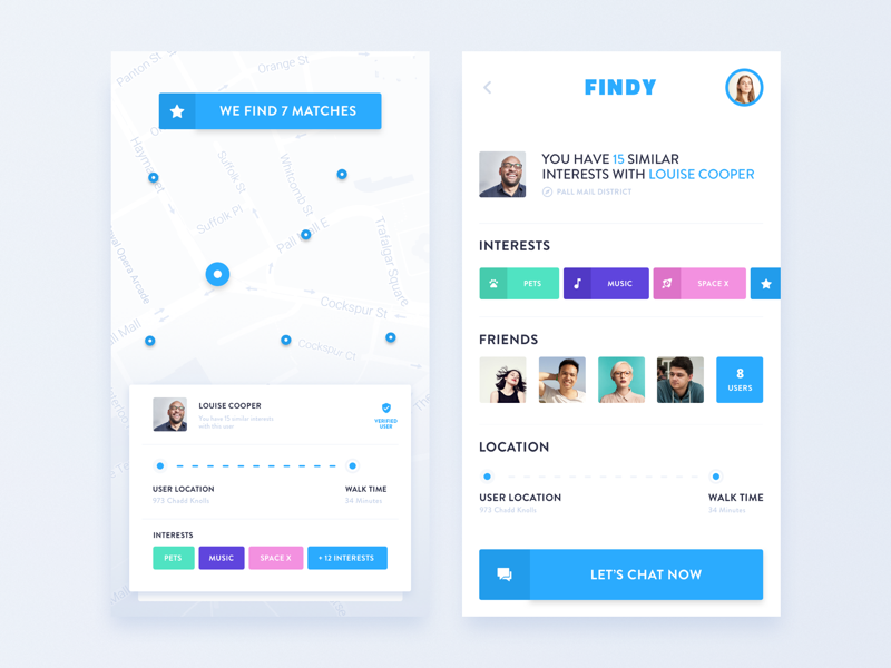 New Mobile App Design - Connecting People