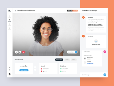 User Interface for Education Platform e-learning app design product interaction business videochat learning university teacher education web mobile dashboard ux ui