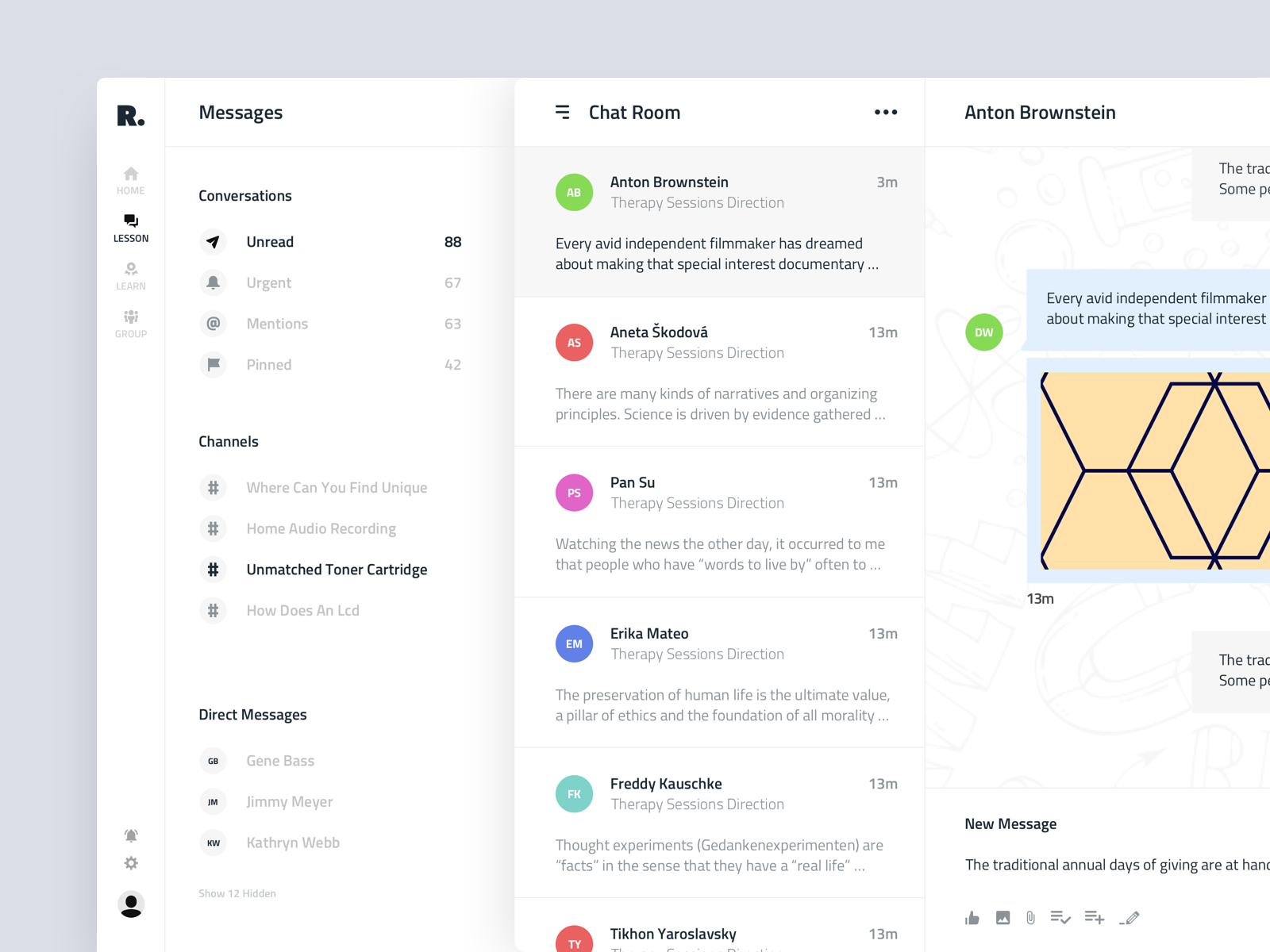 Chat User Interface for Education Platform