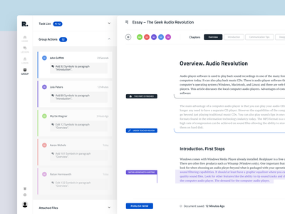 Text Editor Interface for Education Platform writing text editor text area studying university study learning e-learning design clean product app design interaction business web dashboard ux ui