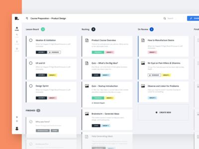 Progress Board Interface for Education Platform