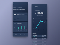 Mobile Application Dashboard for Stock Platform