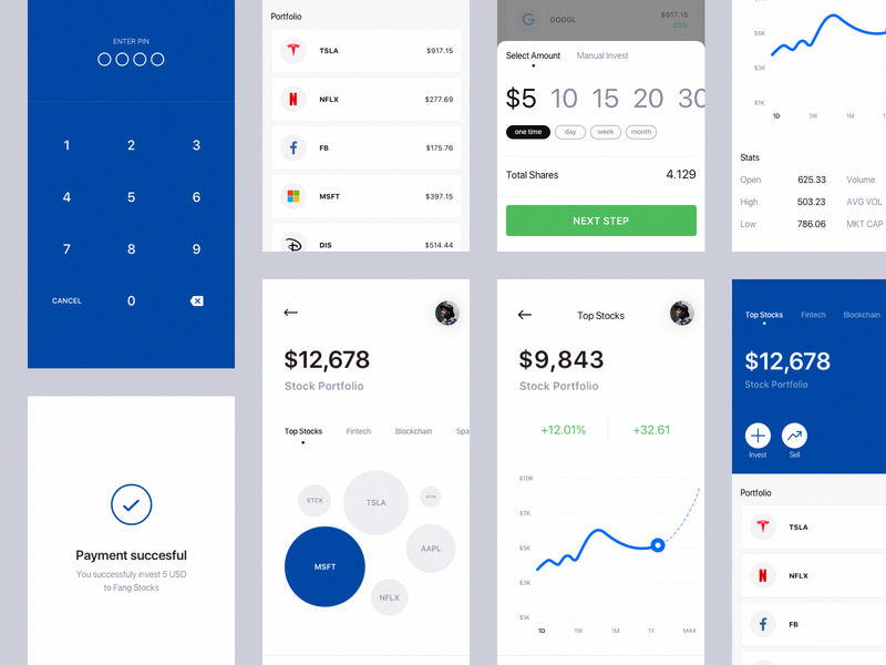 Mobile Application Dashboard for Stock Platform financial startup exchange website design monthly graph cryptocurrency bitcoin design decentralized platform blockchain interaction app design analytics product chart business ux ui interface informational graphic dashboard