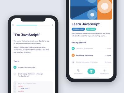 User Interface for Education Platform