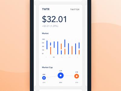 Mobile Application Dashboard for Stock Platform