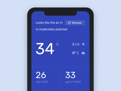 Concept for the Air Quality Application