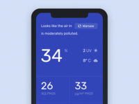 Concept for the Air Quality Application weather app monthly graph cryptocurrency design decentralized platform clean blockchain analytics interaction app design product chart business web ux ui interface mobile informational graphic dashboard