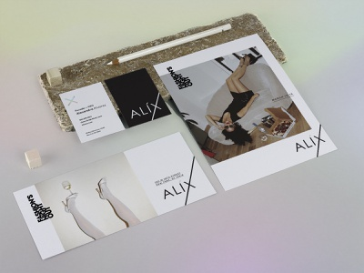 ALIX Bodysuits Fashion's Night Out holographic foil couture fno fashion brand fashion business cards letterhead brand identity stationery logo branding brand