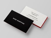 Dude Shopping Business Cards