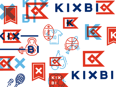 Kixbi Brand Board overprint assets badges icons mood workout game sport equipment supply board brand