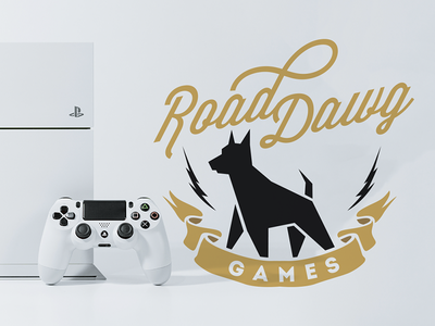 Road Dawg Games technology tech playstation video games brand branding logo gaming gdc dog dawg road