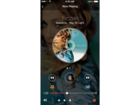 iOS Music Player Redesign