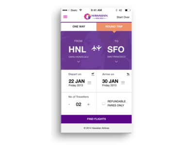 Hawaiian Airlines app Booking Redesign  hawaiian airlines redesign ios ui mobile