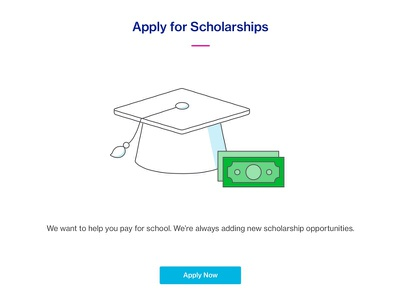 Scholarships - Course Hero ux magenta blue redesign homepage ui scholarships course hero