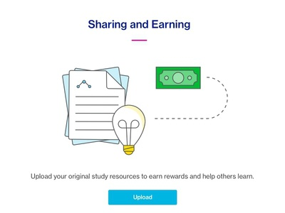 Sharing And Earning ux magenta blue redesign homepage ui earn share course hero