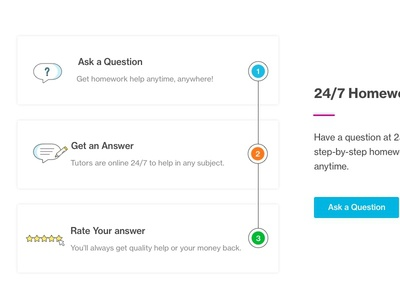 5.Homework Help ux magenta blue redesign homepage ui answers questions 247 homework help course hero