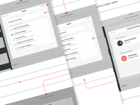 iPad Wireframe and Flow