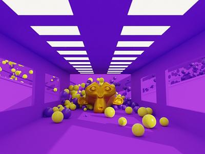 Blender Physics (Molecular add-on) blender 2.8 blender 2.9 blender 2.x suzanne gold yellow purple balls sims simulation particle molecular add-on molecular script blender blender 3d molecular