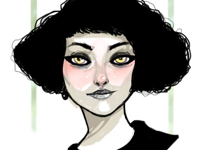 ella kimbra illustration black and white female music