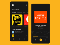 Podcast App - Dark UI Exploration