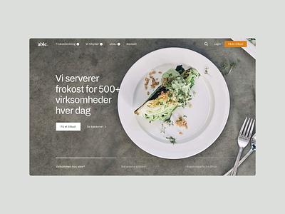 able® - Website Redesign web design scandinavian sustainable vegan platform design able lunch product design clean ecology ux food green design website