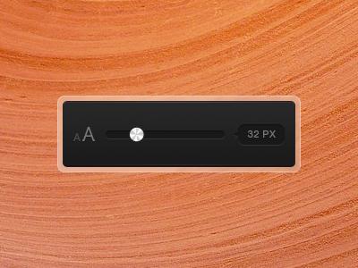Font Size text size selector slider bullet ui