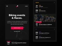 Cycling Events - Mobile Sections