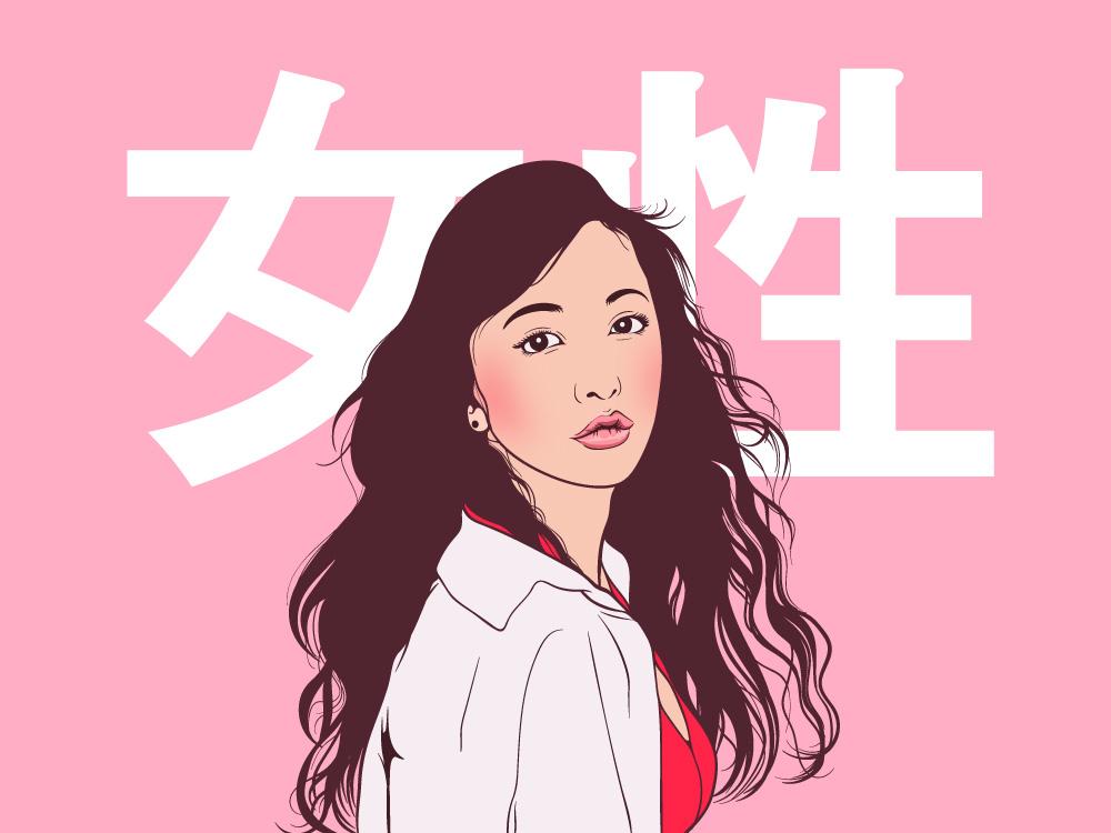 Itano Tomomi AKB48 beautiful cute fans japan japanese idol vector design uya99 illustration akb48 itanotomomi
