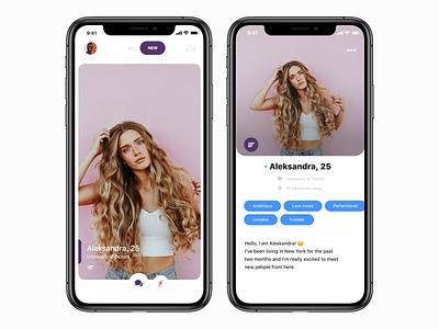 Dating App mobile design mobile app mobile cute artwork art direction artist agency cards design cards ui datingapp dating app dating designer inspiration ux design app ui ios