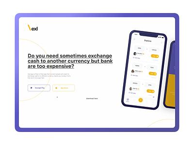 Landing Page - Money Exchange App landing page design landingpage branding product design designer inspiration apple design ux app ui design ios