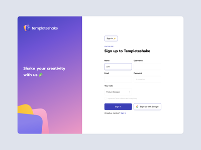 Sign Up Page - Webdesign website design web design webdesign web brand design branding product design inspiration designer ux ui design