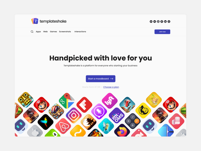 Templateshake Web product design branding ios apps uiux template webdesign website web inspiration designer ux ui design
