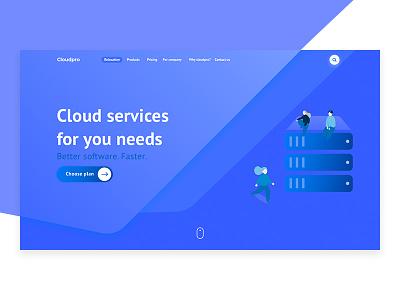 Cloud Pro design photoshop flat branding sketch ux ui