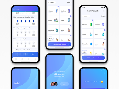 Skincare application health app healthcare flat apple product design skin uiapp interaction design interface application appdesigner appdesign inspiration apple design designer ux app ui ios design