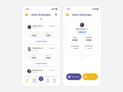 Money Exchange App apple product design branding design apple design inspiration ux ui app ios