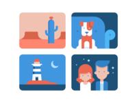 Illustration series for Wix.com