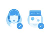 Illustrations for Wix.com