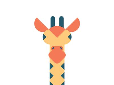 Giraffe zoo savannah animal africa geometric giraffe animals